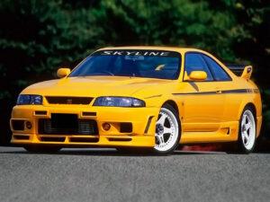 Nissan Skyline GT-R R33 1995-1998 fascia parasole adesiva personalizzata
