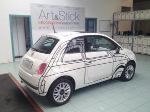 Fiat 500 - replica 500 Ron Arad Edition bianco