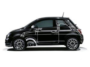 Fiat 500 - replica 500 Ron Arad Edition nero