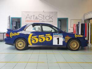 Subaru Impreza STI kit adesivi replica livrea WRX 555