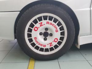 Kit adesivi replica cerchi storici magnesio OZ Racing Lancia Delta