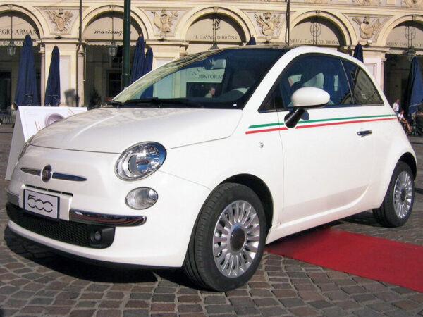 Fiat 500 fasce laterali replica Bandiera Italiana