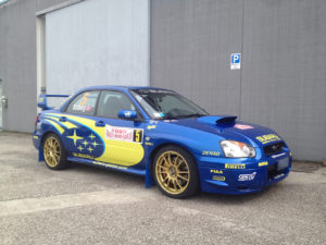 Subaru Impreza STI kit adesivi replica livrea WRC Rally Montecarlo 2005, Solberg