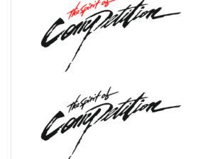 adesivo sticker spirit of competition lancer evo mistubishi