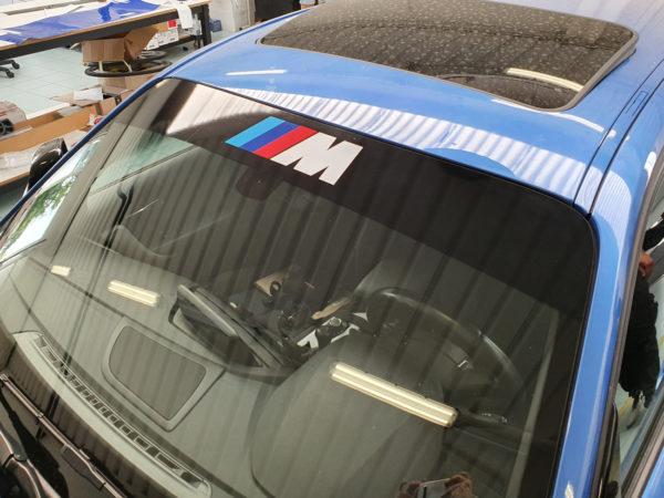 BMW serie 1 fascia parasole adesiva personalizzata M Sport