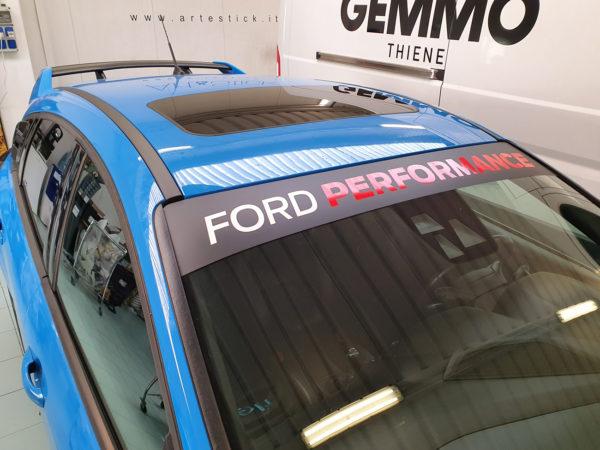 Focus RS mk3 fascia parasole adesiva personalizzata Ford Performance