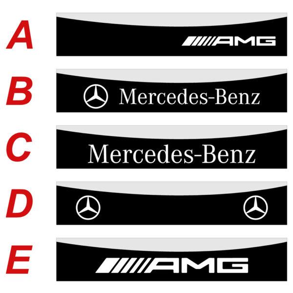 Mercedes Classe A 2012 2018 fascia parasole adesiva personalizzata, Mercedes-Benz, AMG
