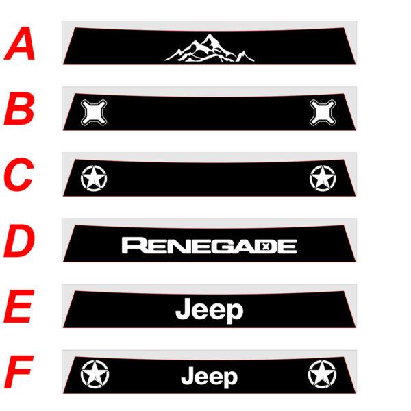 fascia-parasole personalizzata jeep renegade