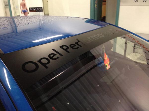 Opel Corsa Opc fascia parasole adesiva personalizzata Opel Performance Center