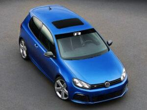 Volkswagen Golf 6 R fascia parasole adesiva personalizzata