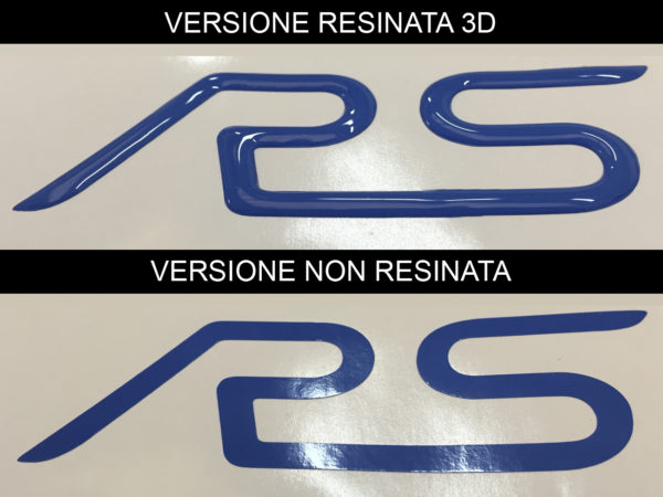 Ford Focus RS mk2 kit adesivi laterali resinati 3D per spoiler RS
