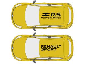 renault clio rs 200 adesivo sticker tetto rs