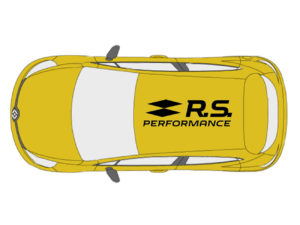 renault clio rs 200 adesivo sticker tetto rs performance