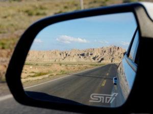 Subaru adesivi sabbiati specchietti retrovisori logo STI